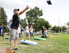 corn hole toss